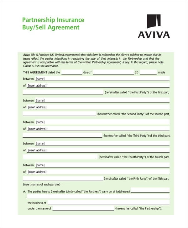 9+ Sample Partnership Agreement Forms - Free Sample, Example, Format - Free Partnership Agreement Form