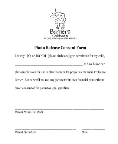Photo Release Form Samples - 10+ Free Documents in Word, PDF - parent release form
