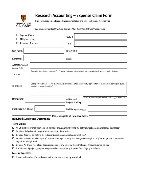 8+ Sample Accounting Expense Forms - Sample, Example, Format