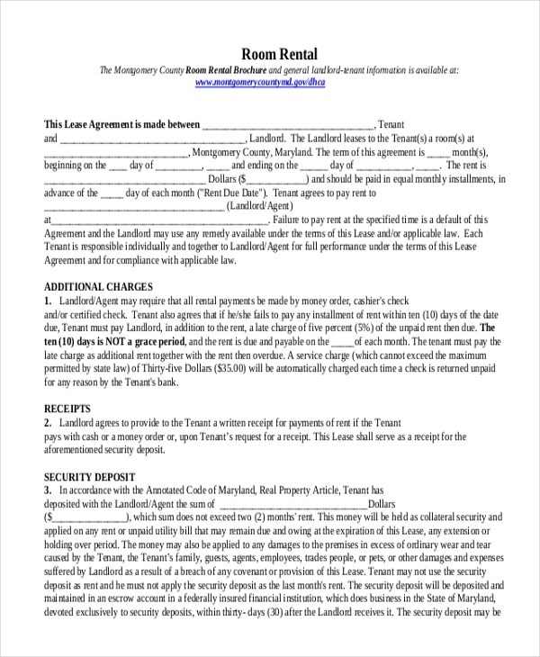 Sample Rental Agreement Form - 10+ Free Documents in Doc, PDF - free tenant agreement