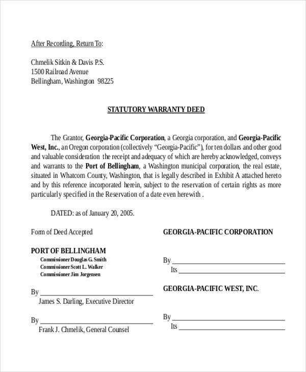 General Warranty Deed  NodeCvresumePaasproviderCom