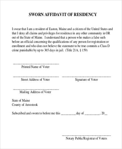 Sample Sworn Affidavit Form - 8+ Free Documents in Doc, PDF