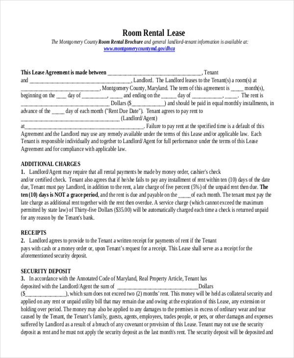 room for rent template rental verification form awesome printable