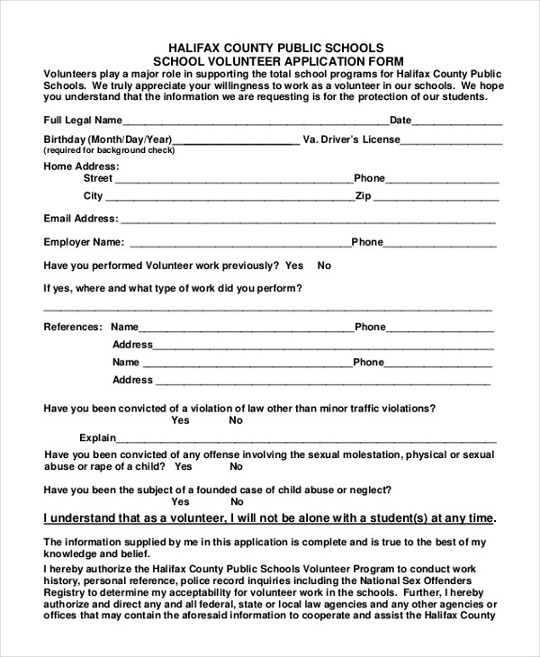 9+ Sample Volunteer Application Forms - Free Sample, Example , Format