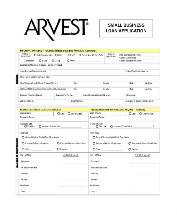 9+ Sample Loan Application Forms - Sample, Example, Format - loan form sample
