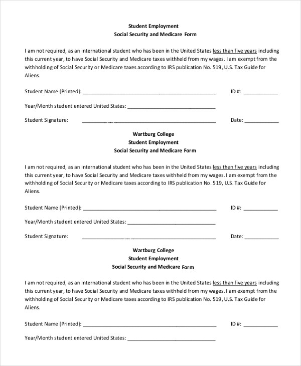 Sample Social Security Form - 16+ Free Documents in PDF