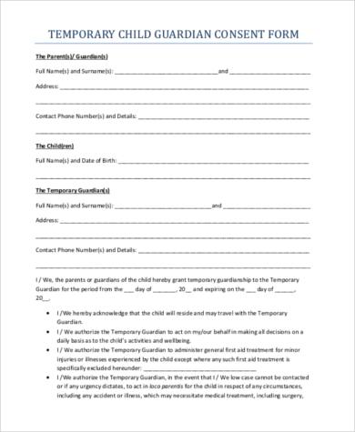 Temporary Guardianship Form Temporary-Guardianship-Agreement-Form - temporary guardianship form