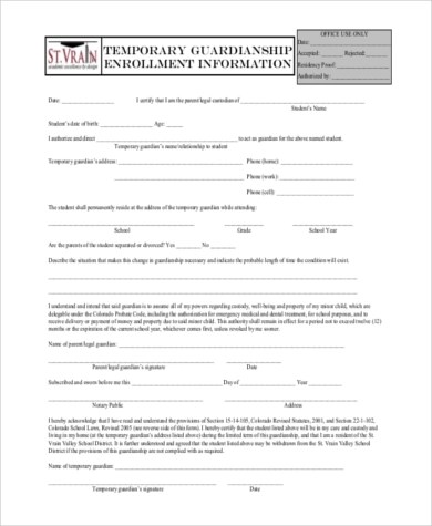 Temporary Form H1027a Tiers Generated Form Screenshot 2 What - temporary guardianship form
