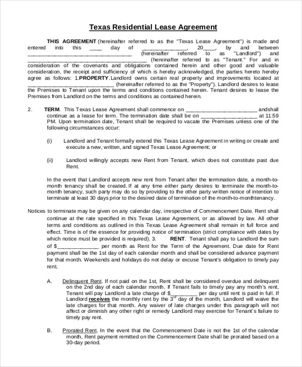 Sample Lease Agreement Forms - 8+ Free Documents in Doc, PDF - sample horse lease agreement template
