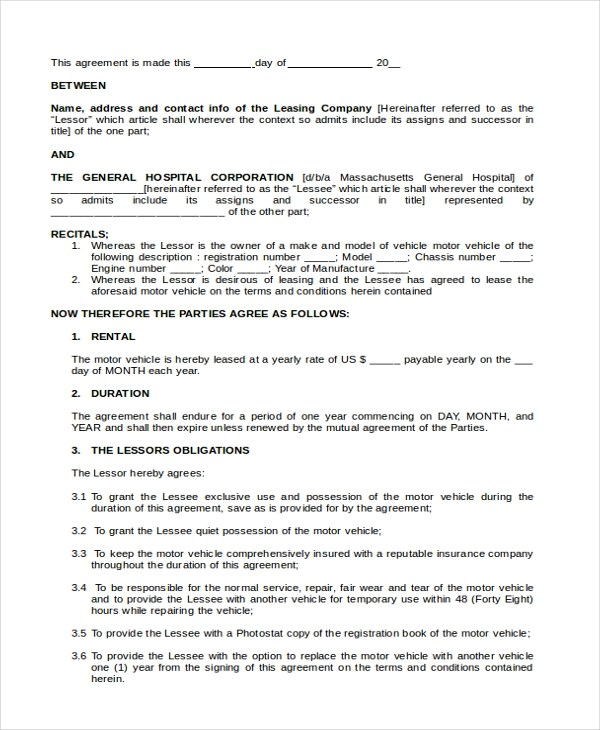 Sample Lease Purchase Agreement Form - 6+ Free Documents in PDF, Doc - auto purchase agreement template