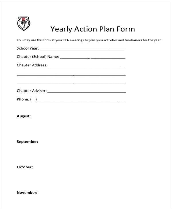 10+ Sample Action Plan Forms - Free Sample, Example, Format - action plan format