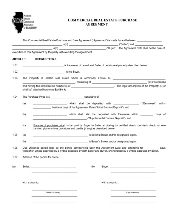 8+ Sample Real Estate Agreement Forms - Free Sample , Example, Format