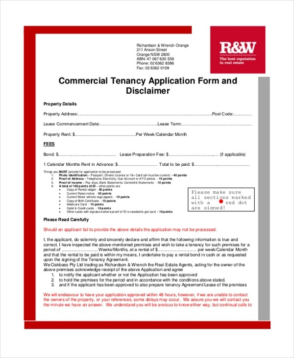 8+ Sample Tenancy Agreement Forms   Sample, Example, Format   Commercial Tenancy  Agreement