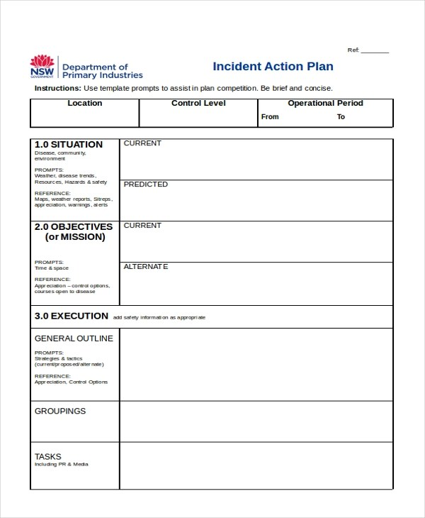 10+ Sample Action Plan Forms - Free Sample, Example, Format - incident action plan