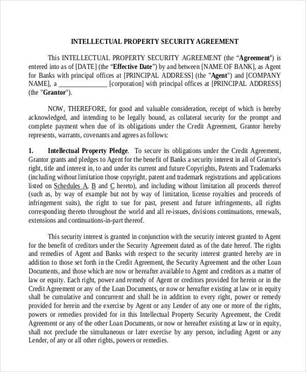 Doc#460595 Security Agreement u2013 Security Agreement With - sample security agreement