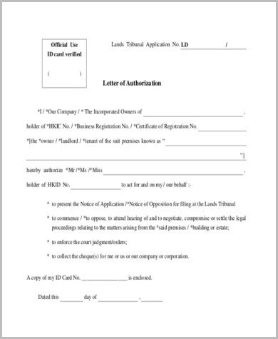 Sample Authorization Letter - 11+ Free Documents in Word, PDF