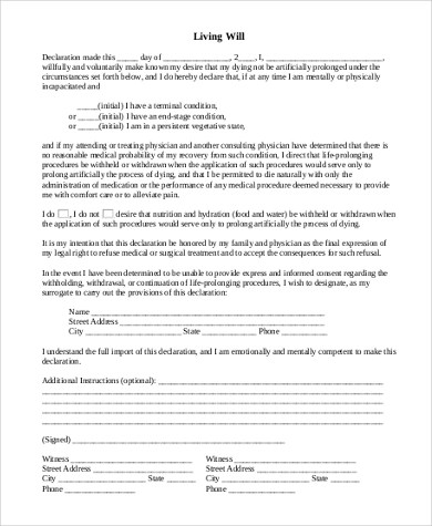 Simple Will Form Sample - 8+ Free Documents in Doc, PDF - simple will form