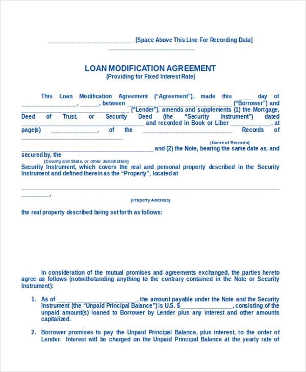 9+ Sample Loan Agreement Form - Sample, Example, Format - mortgage contract template