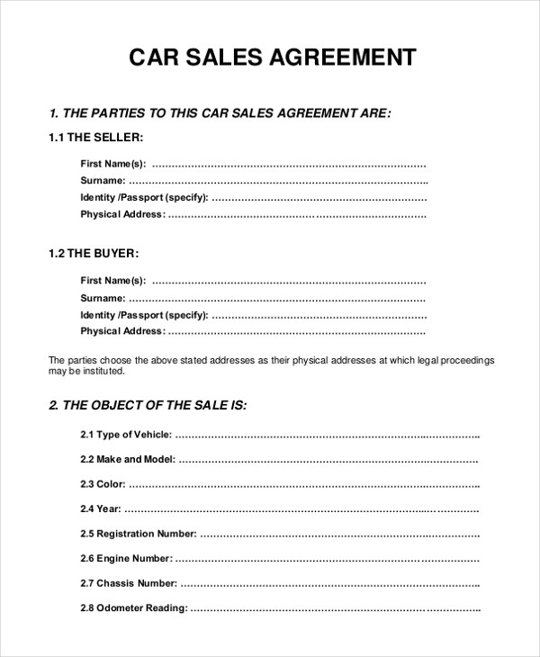 motor vehicle sale agreement form kenya - Onwebioinnovate - sample sales agreement