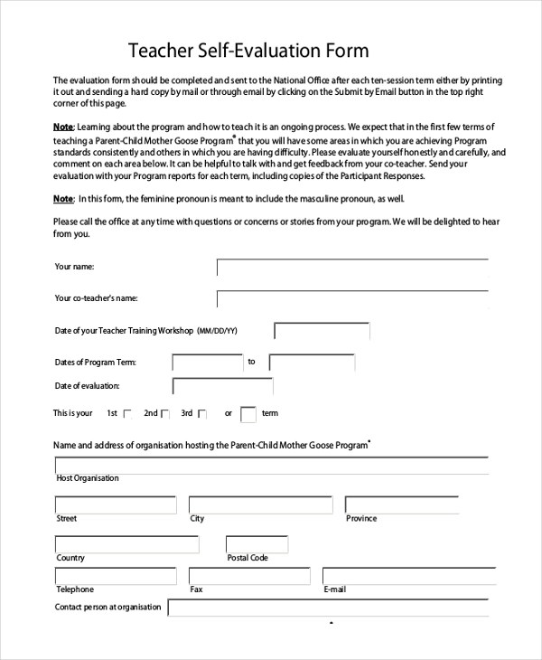 sample performance appraisal form for teachers - Deanroutechoice