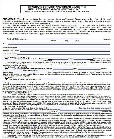 apartment rental lease agreement - Josemulinohouse - real estate rental and lease form