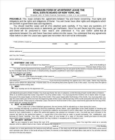 Apartment Rental Contract Sample free month to month rental - apartment rental contract sample