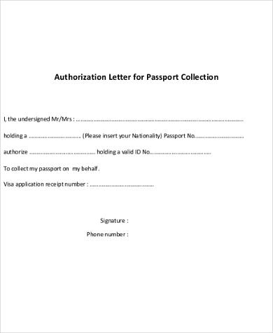 Sample Authorization Letter - 7+ Free Documents in Word, PDF - passport authorization letter