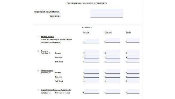 Basic Accounting Form Samples - 9+ Free Documents in Word, PDF