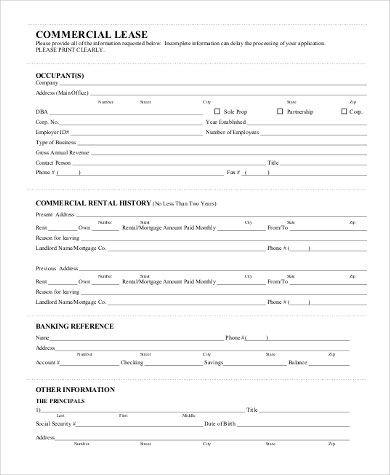 Sample Blank Lease Forms - 8+ Free Documents in PDF