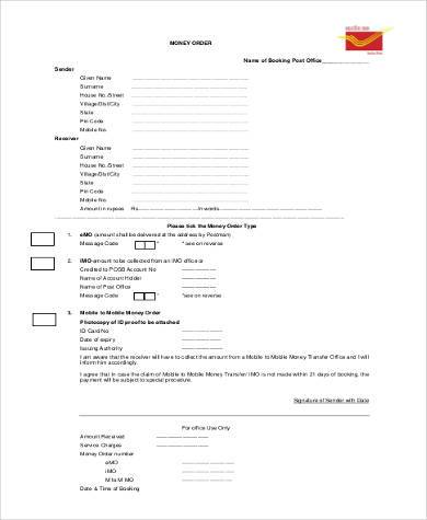 Sample Blank Order Forms - 8+ Free Documents in PDF - money order form