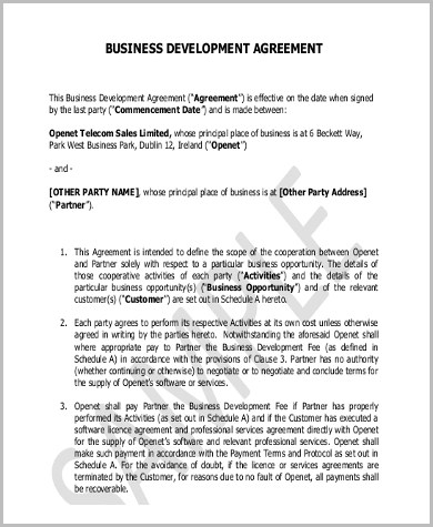 Sample Business Contract - 8+ Free Documents in Word, PDF - development contract templates