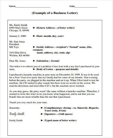 Sample Business Letter Forms - 8+ Free Documents in Word, PDF - Business Letter Example