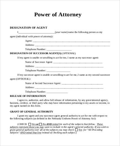 Sample Power of Attorney Forms - 8+ Free Documents in PDF