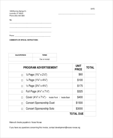 Sales Invoice Form Sample - 7+ Free Documents in Word, PDF, Excel