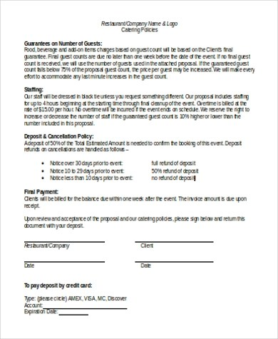 Business Proposal Sample - 8+ Free Documents in Word, PDF - sample catering proposal template