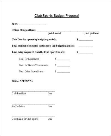 Sample Budget Proposal Forms - 8+ Free Documents in Word, PDF