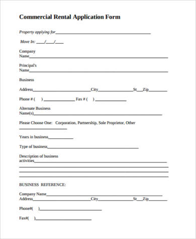 commercial lease application template - Goalgoodwinmetals