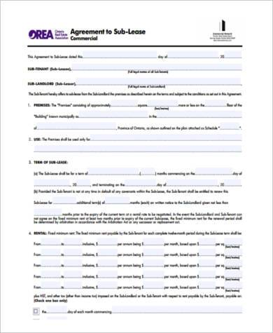 Sublease Agreement Sample Forms - 8+ Free Documents in PDF - sublease agreement