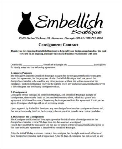 sle consignment agreement - Teacheng