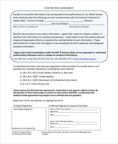 Contractor Confidentiality Agreement Efficiencyexperts - contractor confidentiality agreement