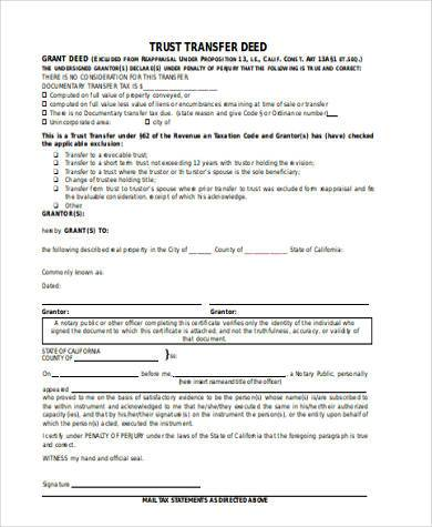 deed of trust form efficiencyexperts - grant deed form