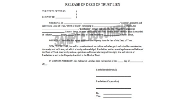 Deed of Trust Form Sample - 7+ Free Documents in Word, PDF