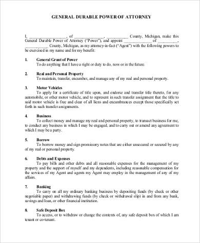 general power of attorney template - 100 images - 9 power of - general power of attorney forms