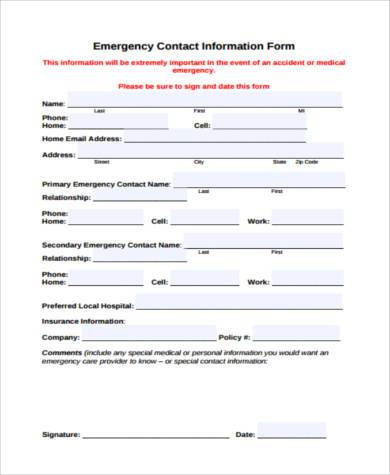 9+ Contact Form Samples - Free Documents in PDF - contact form template word