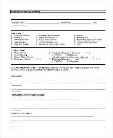 Employee Counseling Letter Template wwwpicturesso