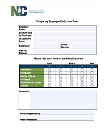 Sample Employer Evaluation Forms - 8+ Free Documents in Word, PDF
