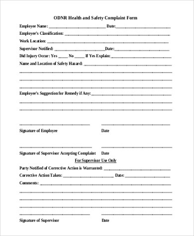 Employee Complaint Form Samples - 9+ Free Documents in Word, PDF