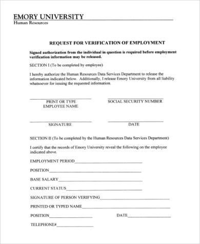 Employment Authorization Form Sample - 7+ Free Documents in Word, PDF - sample employment authorization form