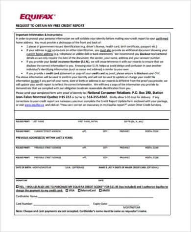 Sample Annual Credit Report Form - 7+ Free Documents in PDF - annual credit report form