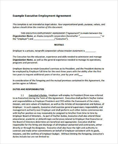 Sample Employment Agreement Forms - 9+ Free Documents in Word, PDF - heads of agreement template free